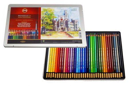 KOH-I-NOOR Souprava akvarelových pastelek 36ks v plechové krabičce Mondeluz 3725