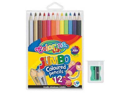 Colorino Jumbo pastelky 12barev 180mm+ořezávátko