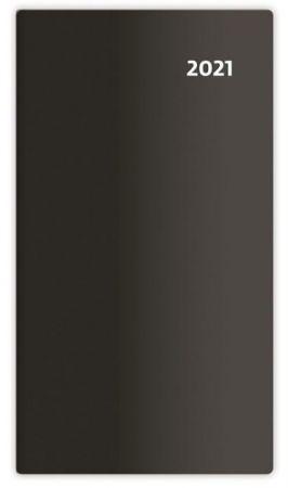Diář čtrnáctidenní Torino černý 2021 / 8,5cm x 15,4cm / PT02-01-21