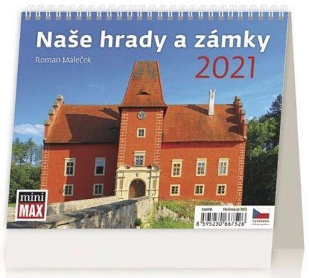 Kalendář stolní Naše hrady a zámky 2021 / 17,1cm x 13,9cm / SM10-21