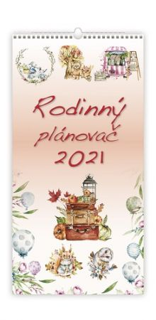 Kalendář nástěnný Rodinný plánovač 2021 / 31,5cm x 63cm / N201-21