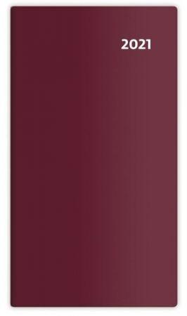 Diář čtrnáctidenní Torino bordó 2021 / 8,5cm x 15,4cm / PT02-03-21