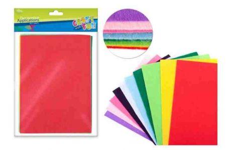 Filcový papír barevný 10 ks A4