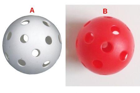 Floorbal míček průměr 7,5cm 2 druhy