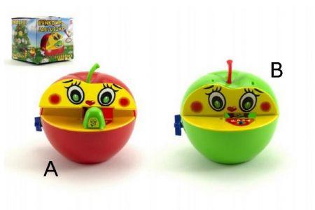 Pokladnička mechanická jablko 12cm