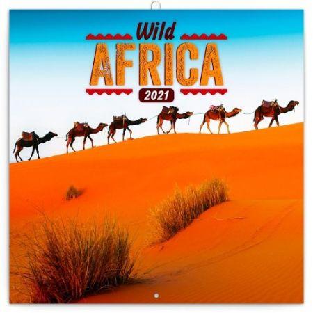 Kalendář poznámkový Divoká Afrika 2021, 30 × 30 cm / PGP-7973-V