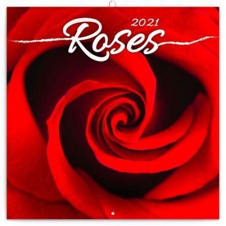 Kalendář poznámkový Růže 2021, voňavý, 30 × 30 cm / PGP-7953-V