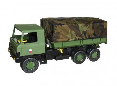 Auto Tatra 815 plast 75cm vojenská khaki valník s plachtou maskáčový v krabici 75x34x27,5c