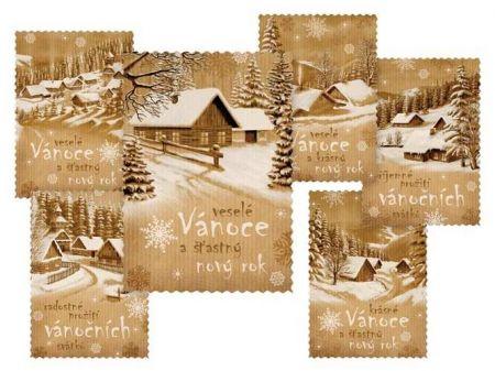 Pohlednice vánoční 154 C výsek