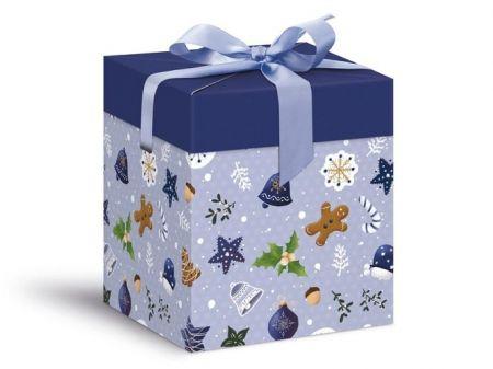 Krabička dárková vánoční 12x12x15cm