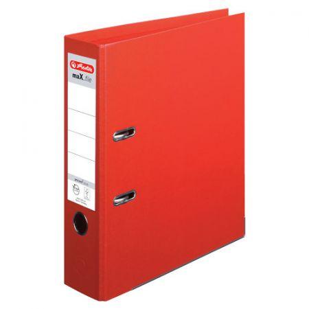 Pořadač pákový A4/8 PP,celobarevný červený (Herlitz)