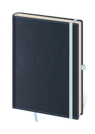 STIL Zápisník BB435-2Double Blue - tečkovaný M