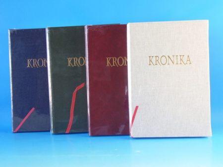 Kronika 200 listů A4 hnědá, vínová, modrá Hospa