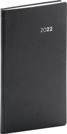 Diář kapesní Balacron černý 2022 / 15,5cm x 9cm / PGD-KAPBA-2010