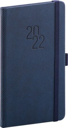 Diář kapesní Diamante modrý 2022 / 15,5cm x 9cm / PGD-KAPDI-2716