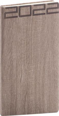 Diář kapesní Forest hnědý 2022 / 15,5cm x 9cm / PGD-KAPFO-2943